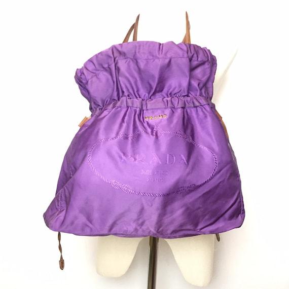 Prada Nylon Purple Tote Bag