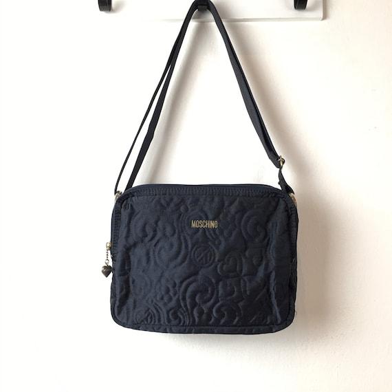 Vintage Moschino Embroidery Logo Crossbody Bag