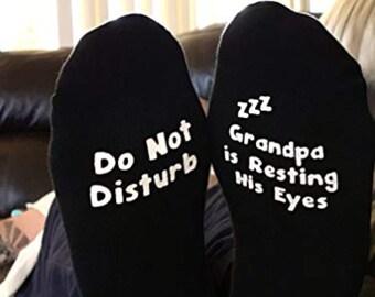 Grandpa Socks Stocking Stuffers Funny Grandpa Gift Father/'s Day Gift Birthday Gift Gift For Grandpa Shhh Grandpa Is Sleeping