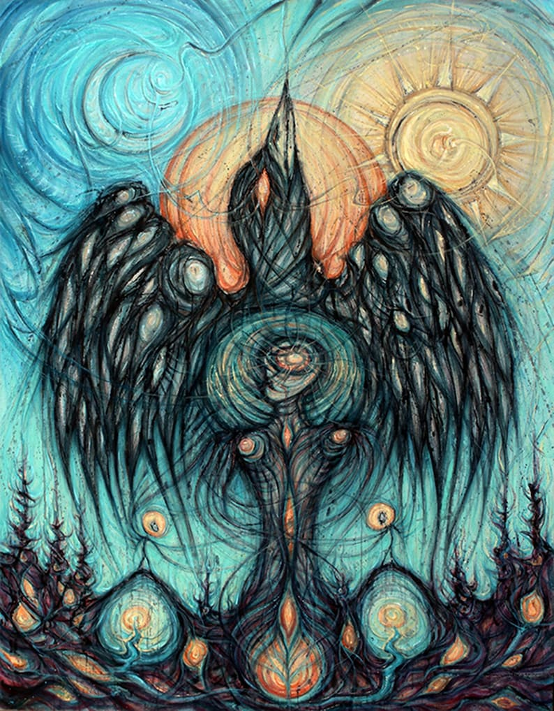 The Raven-Mage will rise as Phoenix  Art Print image 0