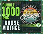 Combo 1000 Vintage Nurse Png, Bundle Png, Gift For Nurse, Retro Nurse, Instant Download
