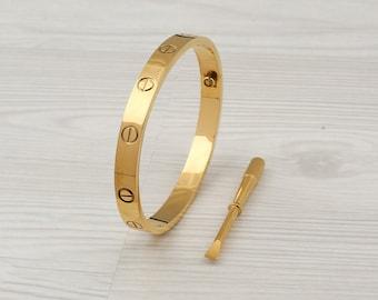 Love Bracelet Plated Luxury Bracelet High Quality Love Bracelet,Couple Bracelet,Stacking Bracelet\uff0cSlotted screw