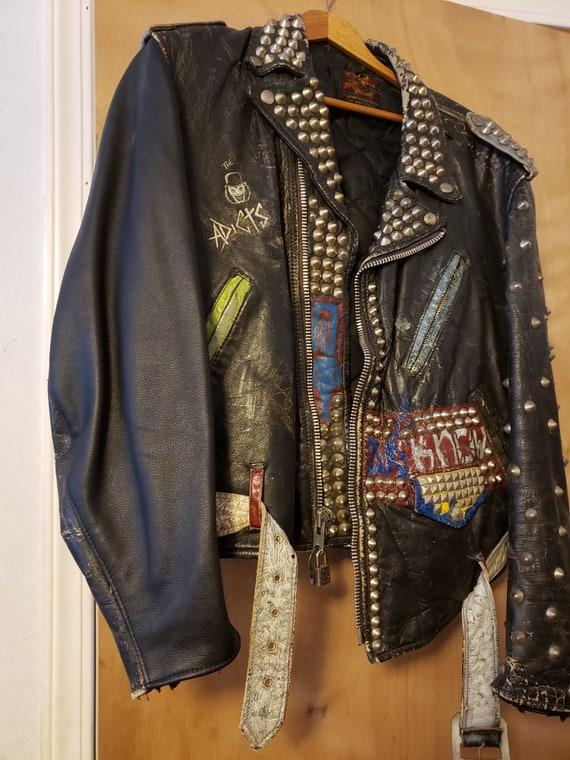 Vtg 60's Schott Studded Punk_Rock_Jacket