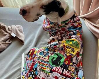 SUPER Hero Dog Coat sizes XS-XXL