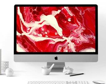 Digital Art Bundle - Crimson & White - Computer Wallpaper, Phone Wallpaper, Instagram Background