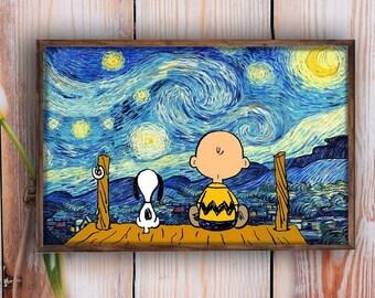 Snoopy Art Etsy