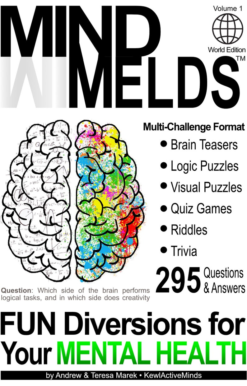 295 Fun Brain Teasers Logic/Visual Puzzles Trivia Questions image 0