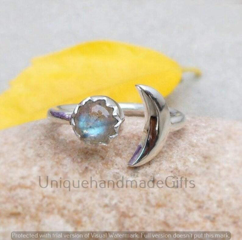 Labradorite Sterling Silver Ring Hand Crafted Bohemian Ring Boho Statement Ring Labradorite Ring Boho Ring Rings for Gift