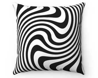 Psychedelic Pillow | Trippy Spun Polyester Square Pillow | 14x14, 16x16, 18x18, 20x20 Pillows And Covers