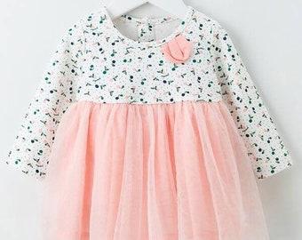 Toddler Girls Polka Dot Lettuce Trim Babydoll Dress Birthday Gift For Toddler Girl Cute Toddler Girl Dress