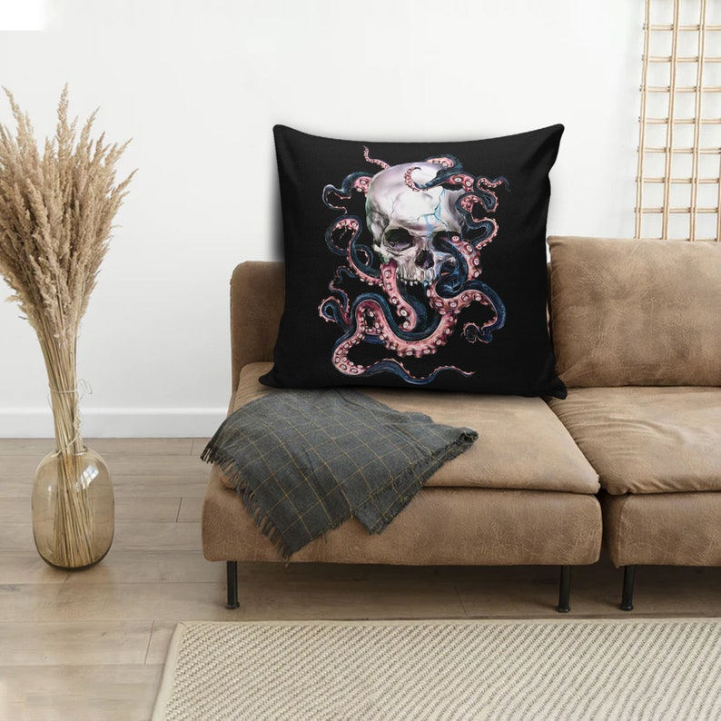 Skulltopus Pillow Cover Throw Pillow Both Sides Printed Pillows Machine Washable Pillow Decorative Pillow Case