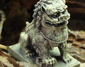 Fish Tank Feng Shui Landscaping, Zen Ancient Buddha Statue Decoration, Aquarium Stone Lion Resin Decoration, Fish Tank Lion Decoration