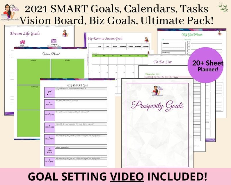 Goal Planner 2021 Smart Goals Setting Planner Printable image 1