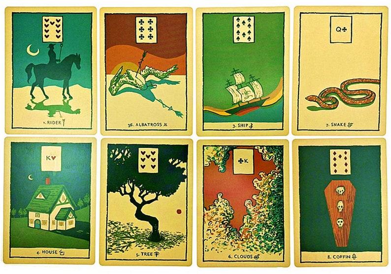 Green Glyphs Lenormand Tarot Deck Card 33 Pieces/ Set Tarot image 4