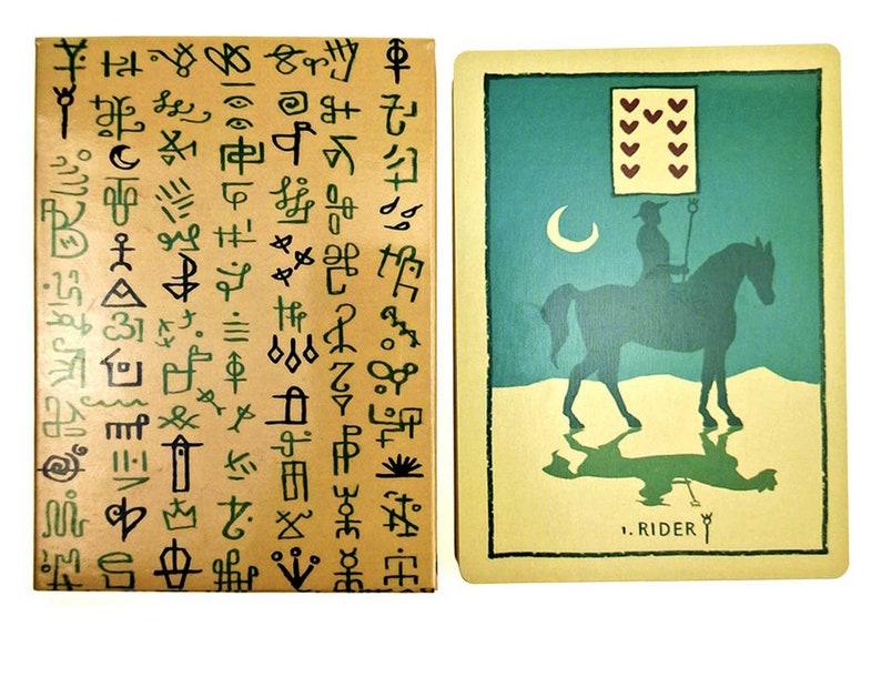 Green Glyphs Lenormand Tarot Deck Card 33 Pieces/ Set Tarot image 0