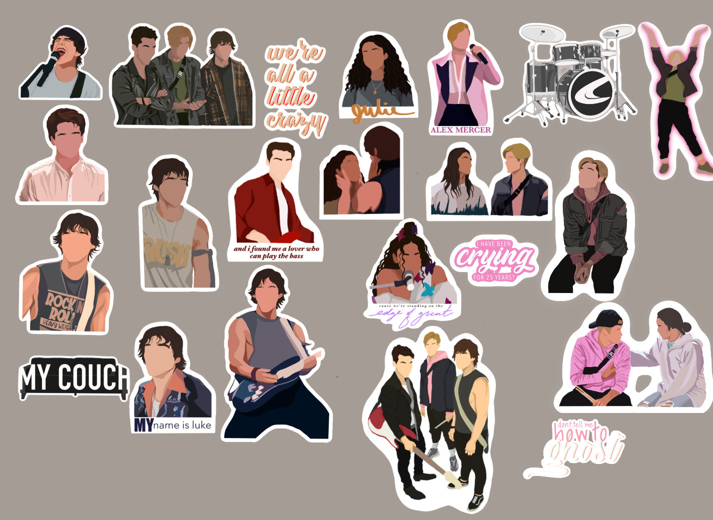 Julie and the Phantoms Sticker Pack | Etsy