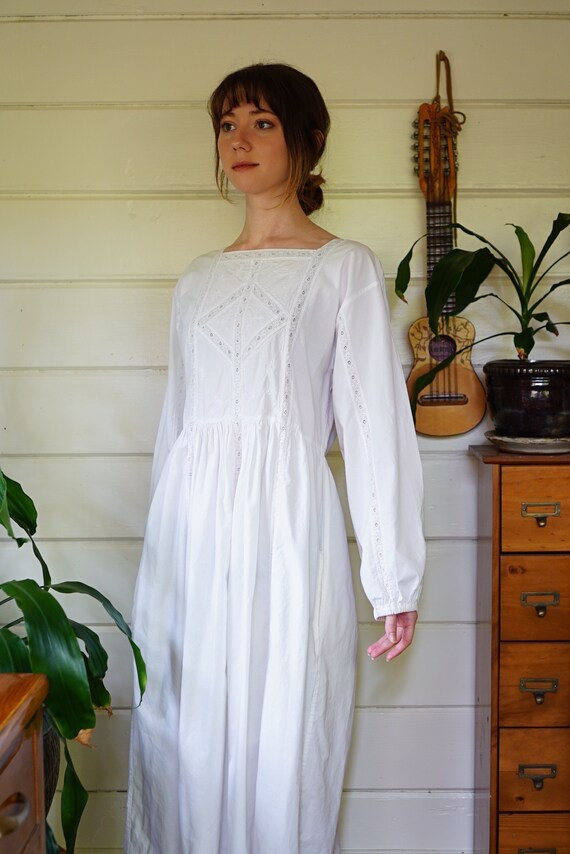 White Cotton Edwardian Victorian Reproduction Nigh