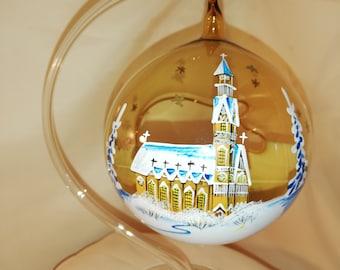 Lantern with stave church