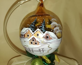 Ball with winter motif gold