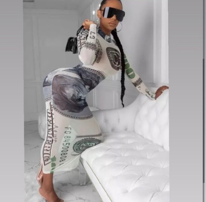 Large Small sheer  money dress