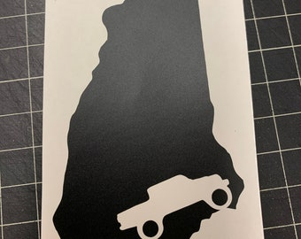 NH Map with Jeep Gladiator Decal Sticker