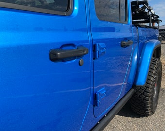 2021 Jeep Wrangler JL without Tailgate Key Lock New Updated version no adhesive needed, The Original Santi's Caps