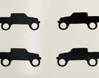 Set of 4, 20-21 Jeep Gladiator windshield right corner Window Decal Sticker