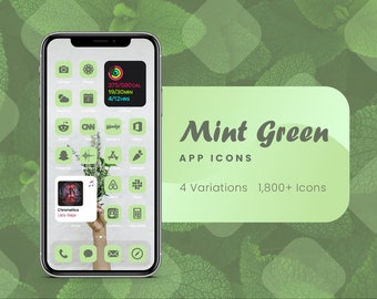 Mint Green App Icons for iOS 14