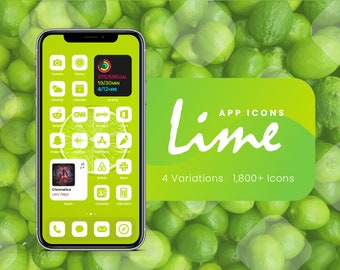 Lime Green App Icons for iOS 14