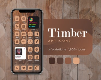Timber App Icons for iOS 14