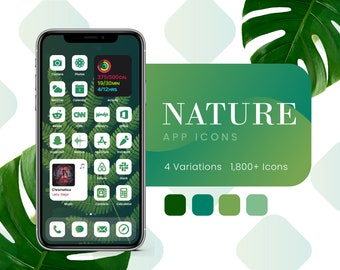 Nature Green App Icons for iOS 14