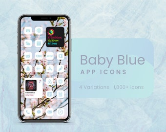 Baby Blue App Icons for iOS 14