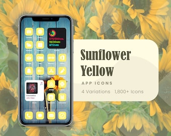 Sunflower Yellow App Icons for iOS 14
