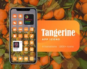 Tangerine Orange App Icons for iOS 14