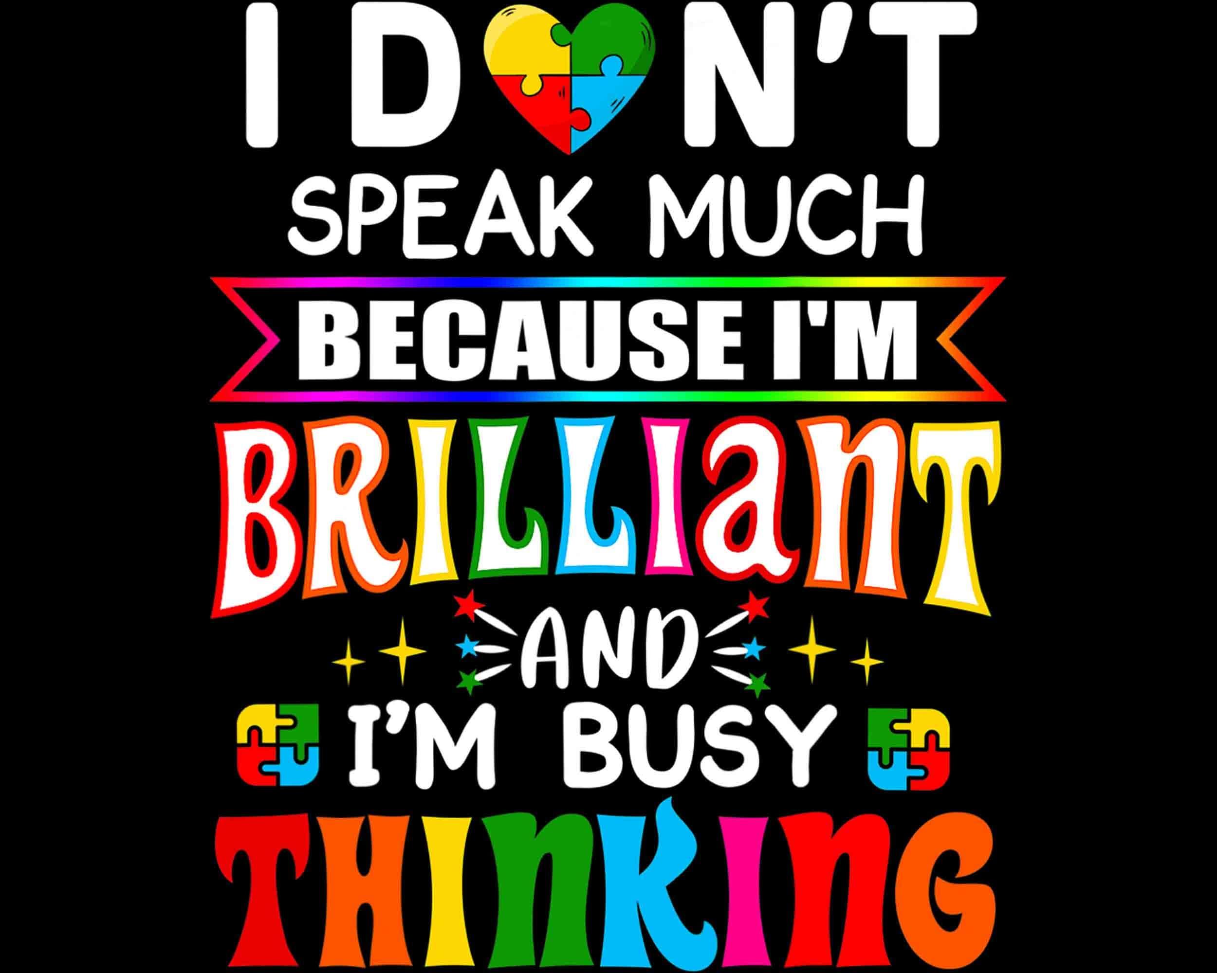 Ich spreche nicht viel weil ich brillante Png Bewusstsein