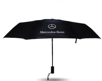 Mercedes Umbrella Fully Automatic Push Button Brolly Rain Winter Car Accessory