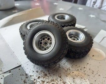 3D printed wheel extensions for WPL V1 and V4 wheels. WPL B14, B16, B24, C14, C24 and C54