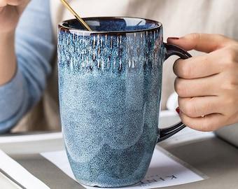 ceramic mug Handmade pottery Large Coffee Mug Holds 16 ounces Tea cup