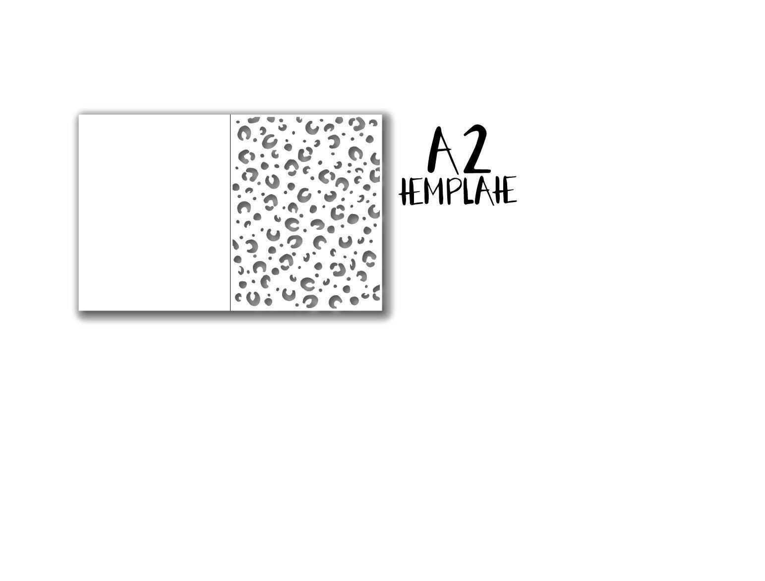 Leopard Print A21 Card Template SVG/PNG for Cricut/Silhouette  Etsy Intended For A2 Card Template