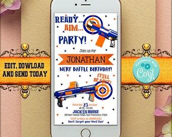 Editable Birthday Party Invitation, Birthday Invitation, Instant Download, Editable With CORJL