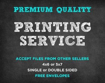 Print My Order Printing Service Printed Invitations Cheap Invitation Printing 4x6 or 5x7 Invite Printing Print My Invitation