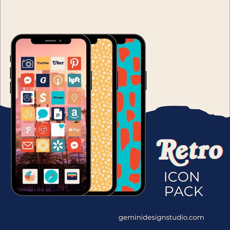 Retro collection  150 iPhone iOS 14 App Icons  iOS14 Widget image 0