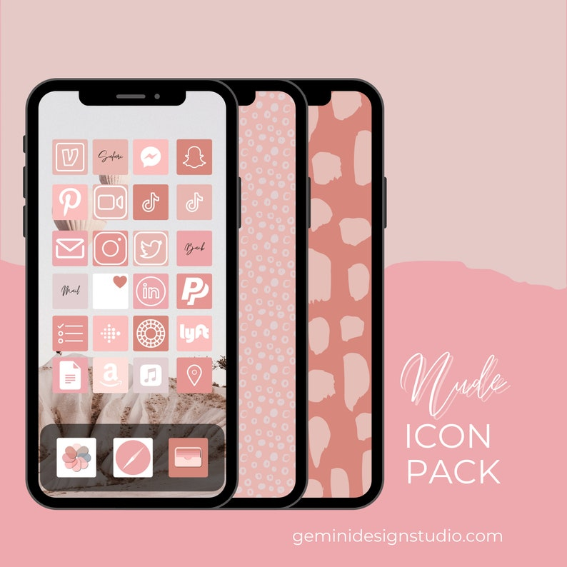Nude Color Palette  200 iPhone iOS 14 App Icons  image 0