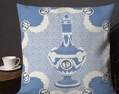 Wedgwood Blue Vase Throw Pillow