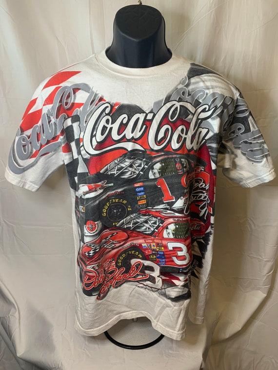 Vintage all over print coca-cola nascar tshirt