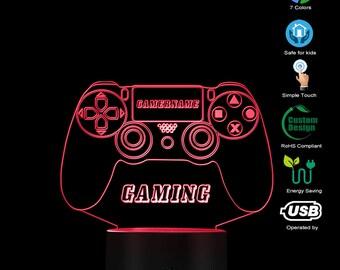 personalisierbar zum Hinstellen//Aufh/ängen Gaming Controller 2 Lampe aus Holz pers/önliches Geschenk Gamingpad Lampe Gaming Zimmer Deko personalisierbares Geschenk f/ür M/änner Gamer Geschenk