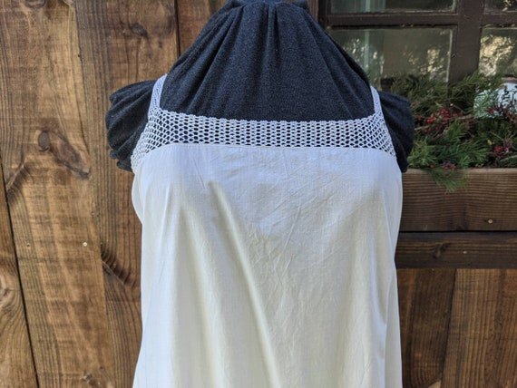 Vintage French Cotton Slip, Soft White Cotton, Cro