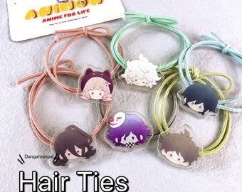 Danganronpa Elastic Hair Ties: Chiaki Nanami, Kokichi Oma, Hajime Hinata, Chiaki Nanami, Shuichi Saihara, Nagito Komaeda