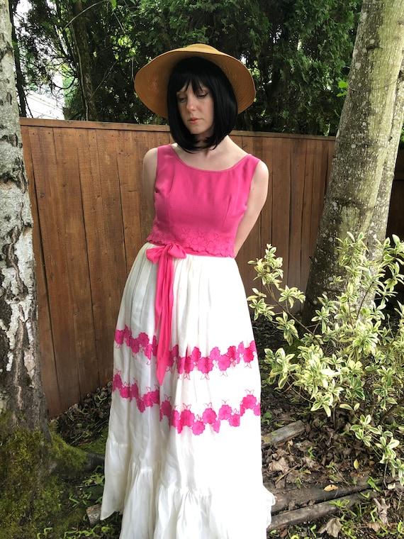 Handmade Cottagecore Vintage Dress 1950s-1960s - image 8