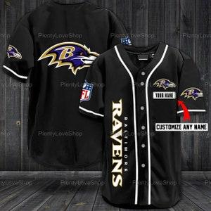 Baltimore Ravens Baseball Shirt Baltimore Ravens Personalized   Etsy